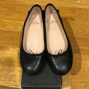 J. Crew Shoes - JCrew Evie Black Ballet Flats in Leather